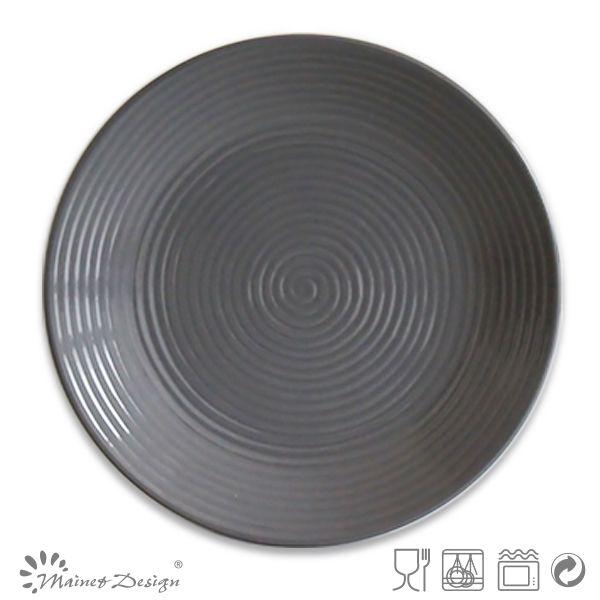 10.5inch dark grey color glazed cheap ceramic dinner platesceramic plates and cups  sc 1 st  Pinterest & 10.5inch dark grey color glazed cheap ceramic dinner platesceramic ...