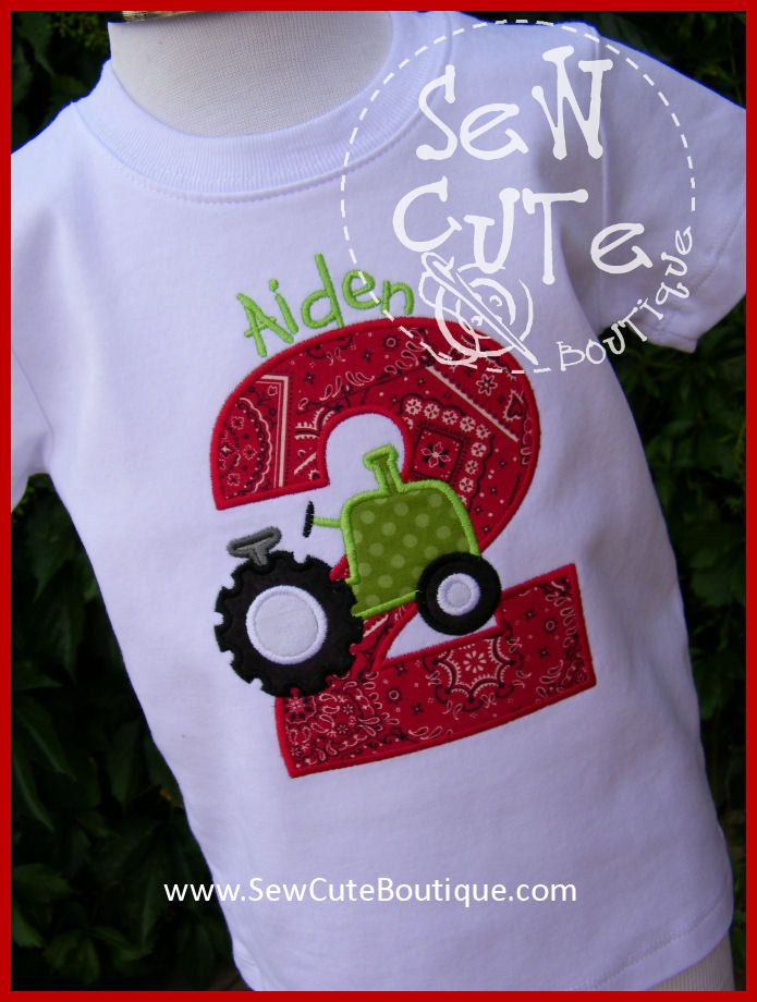Tractor Birthday Shirt By ThatsSewCute On Etsy 2000