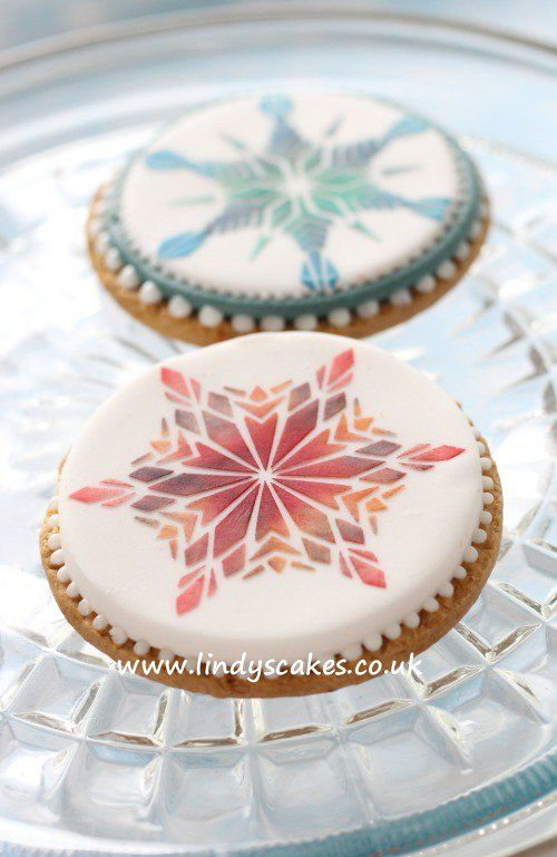 Amazing Stenciled Christmas Cookies ... Create something special this #Christmas using digestive #biscuits and #cake #stencils @McVities @UnitedBiscuits by @lindysmith