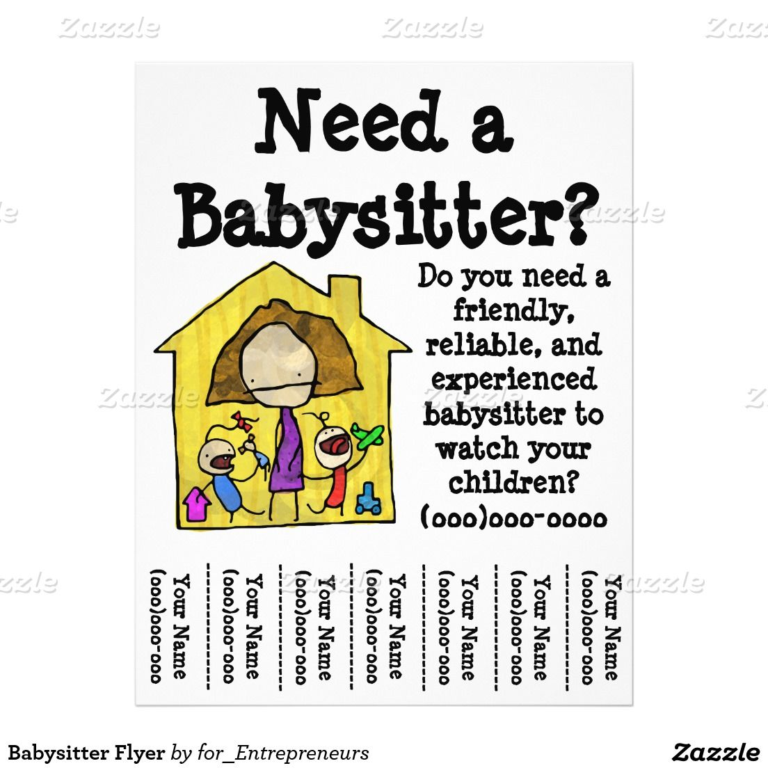 Babysitter Flyer | Pinterest