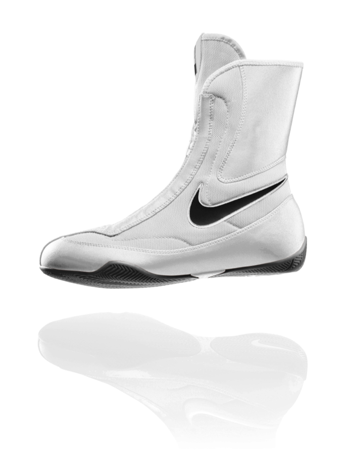 Nike Machomai Mid Boxing Shoes - White http://www.geezersboxing.co