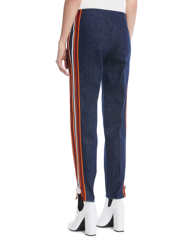 cdb3a024321 Calvin Klein Side Stripe Zipper Skinny Jeans | Products | Skinny ...