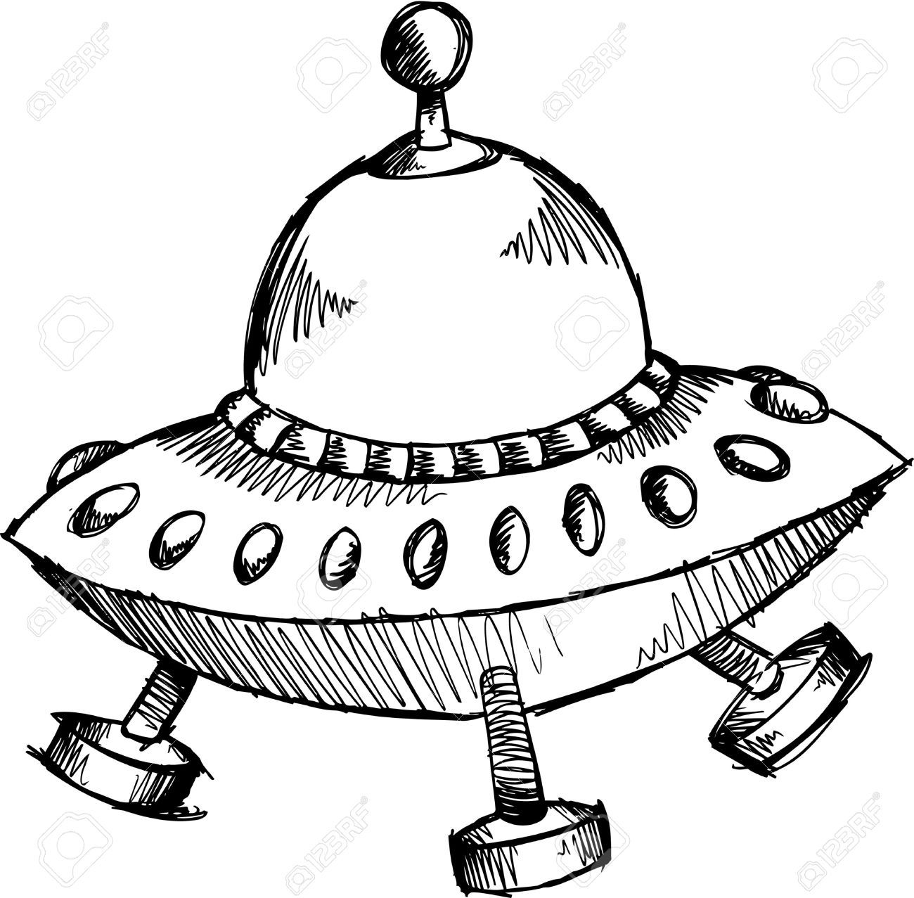 6784493 doodle sketchy spaceship illustration stock vector