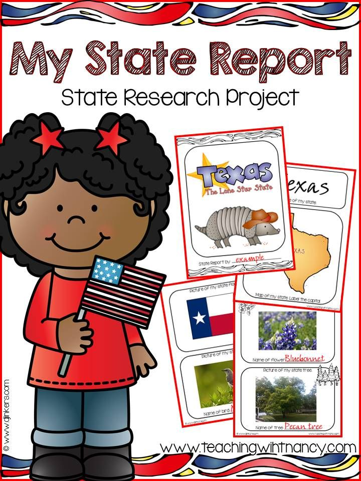 State Report Research Project Website, Social studies and Create - research project report