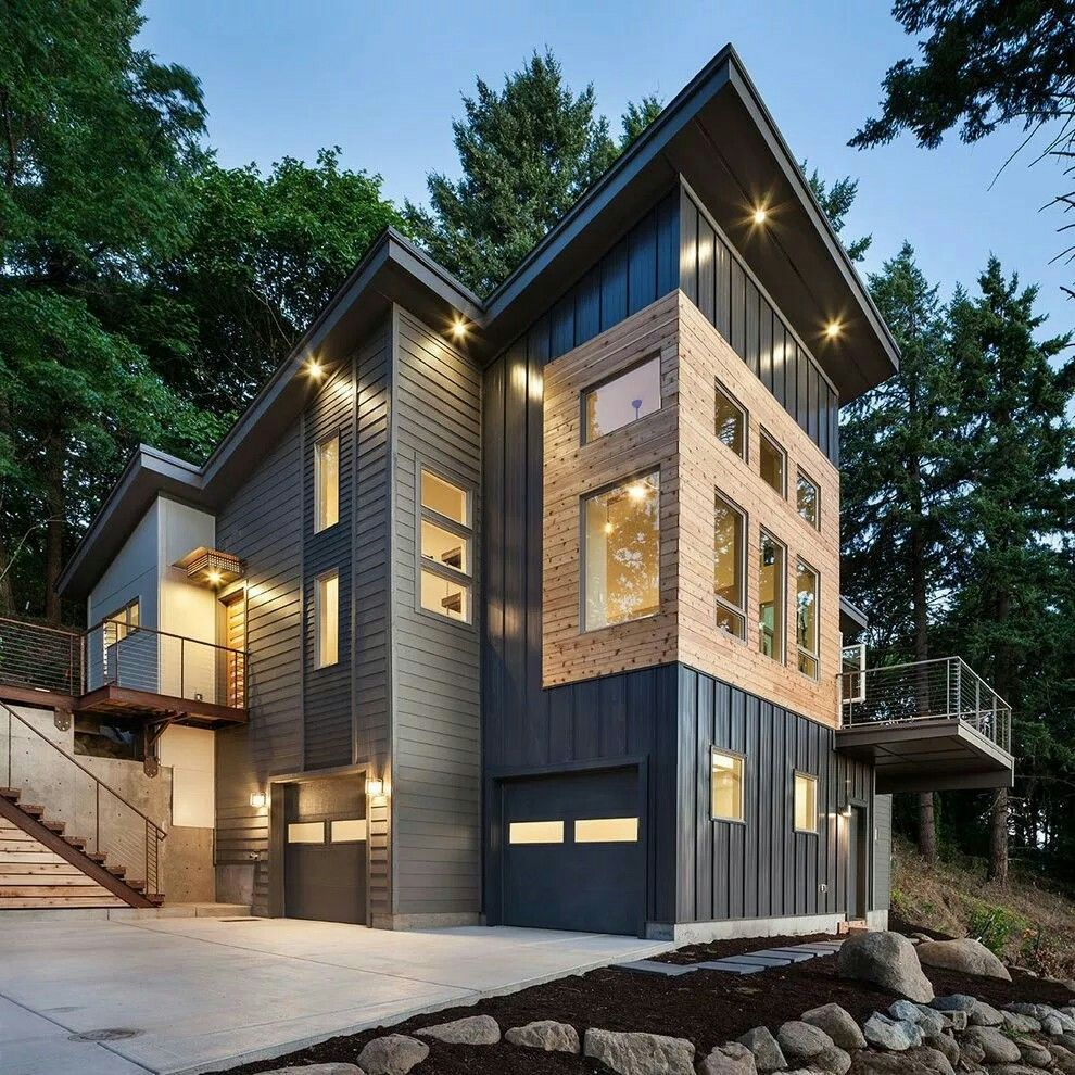 Metal Siding | Modern rustic homes, House designs exterior ... on Modern House Siding Ideas  id=95904