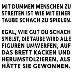 Mit dummen Menschen streiten.: | ZItate/Sprüche | Sprüche zitate