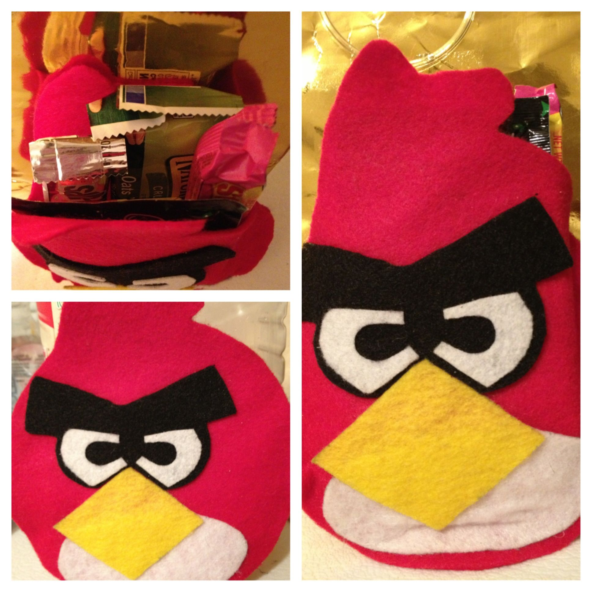 Angry Bird Goodie Bag made from felt