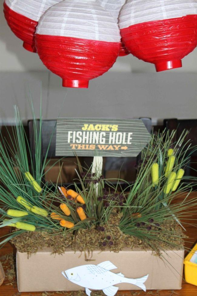 Boy Bash Vintage Fishing Birthday Tablescape