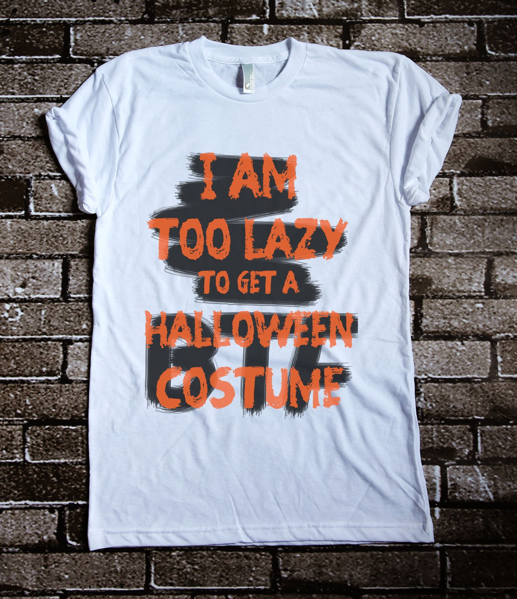 Now Brooklyn T Factory is providing quality T-shirts from American Apparel!* Lazy people's Halloween costume! on American Apparel Feeling lazy to get halloween costume? We have solution! wear our funn
