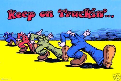 Keep on Truckin' by R Crumb Classic Art Print Poster | eBay