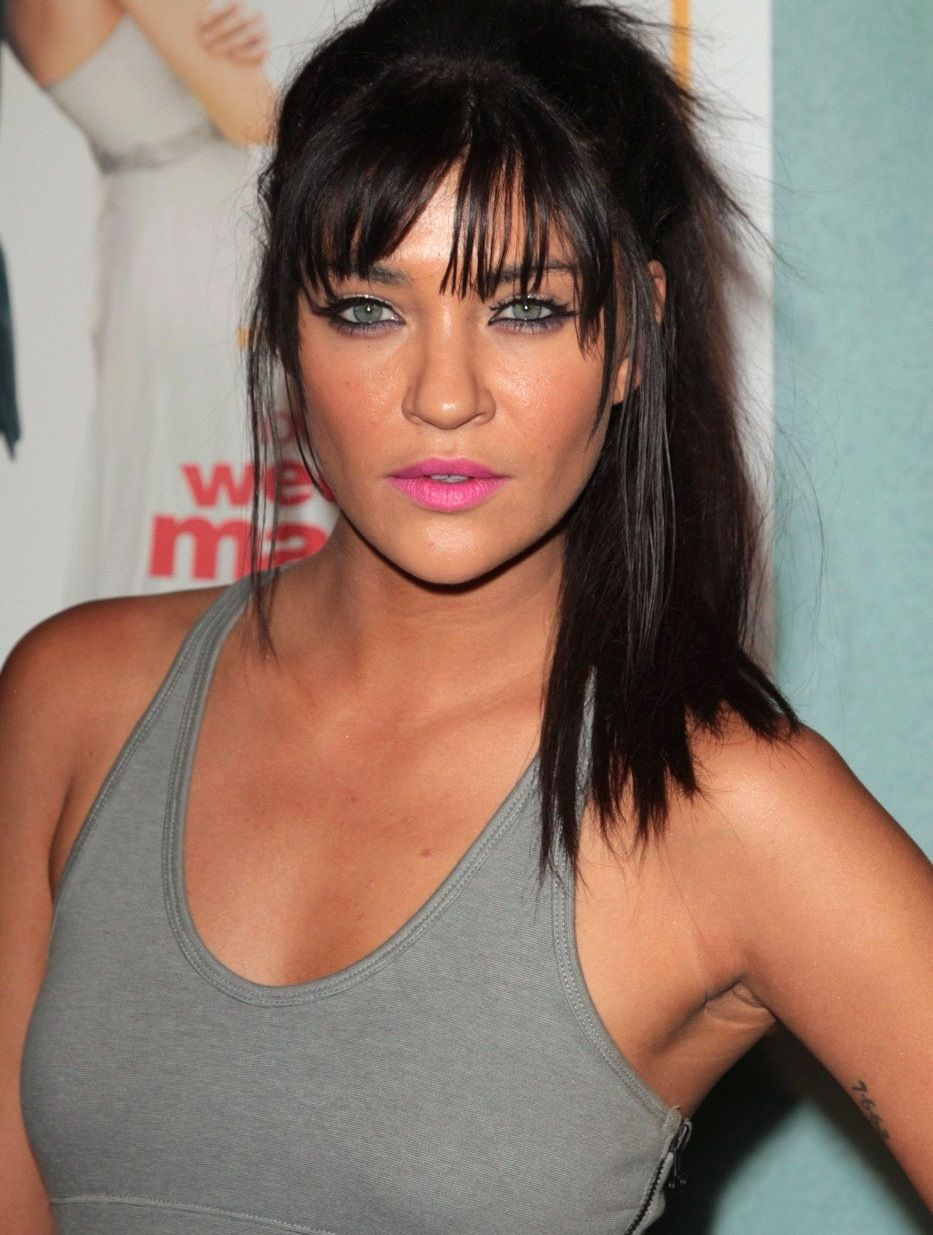 Jessica Szohr Bangs Hairdo Hairstyle Beauty Makeup Hair
