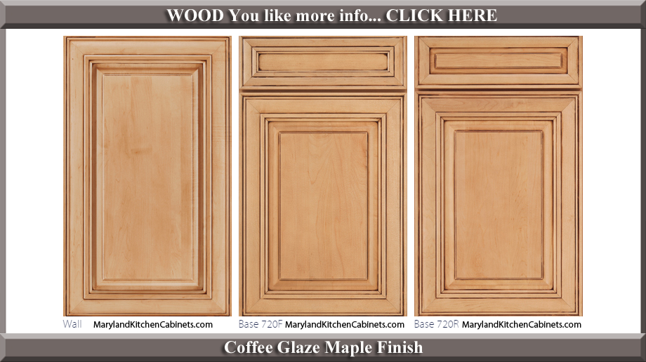 720 coffee glaze maple finish cabinet door style for Kitchen cabinets finishes and styles