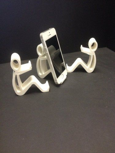 phone holder phone stand 3d printing 35256 3 d printer. Black Bedroom Furniture Sets. Home Design Ideas