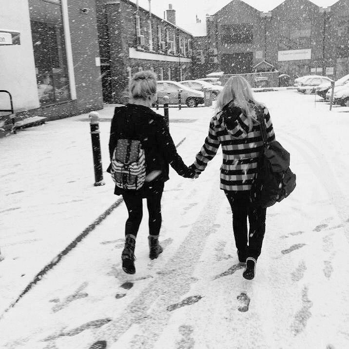 Lesbians in the snow