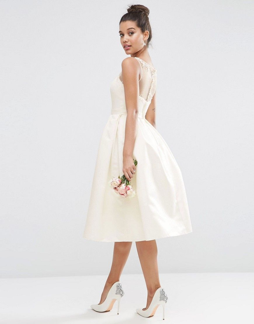 Crystal Sweetheart Midi Prom Dress By Asos Bridal White Color Midi Dress By Asos Collection Structured Sateen Fabric Boned Bo Midi Prom Dress Fashion Dresses [ 1110 x 870 Pixel ]