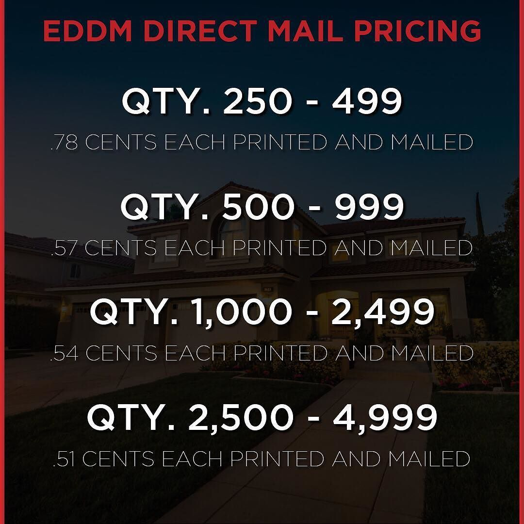 Just a reminder that EDDM direct mail is a great cost effective way to infiltrate your farm! Download our entire price sheet at agdesignsinc.com