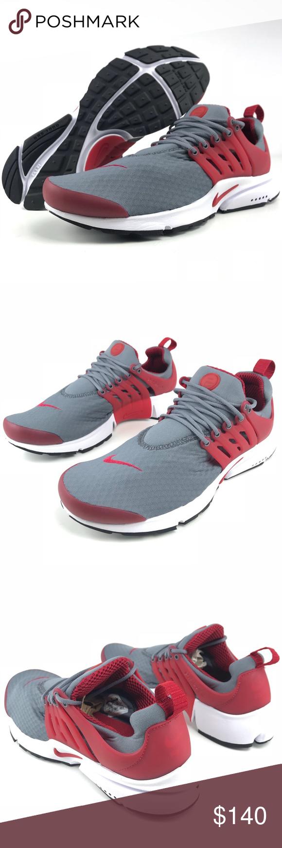 c654634f15 Nike Air Presto Essential Nike Air Presto Essential Color: Cool Grey/Gym Red-White  Black Style: 848187-008 No Original Box will be provided Nike Shoes ...