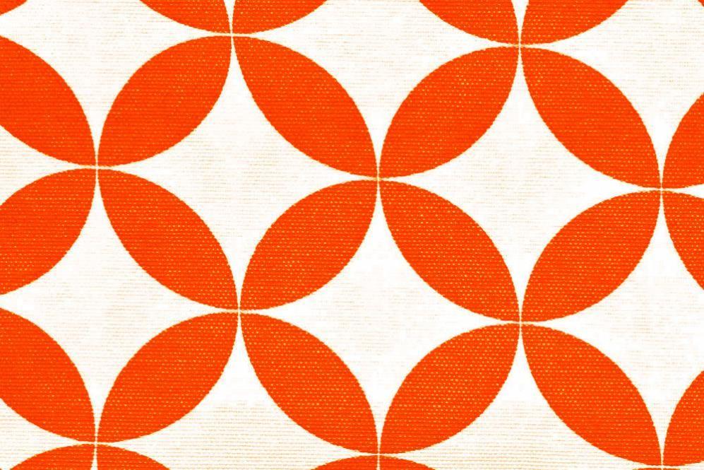 Outdoor Stoff Spain Lounge Retro Orange Weiss Stoff Online Shop Retro Stoffe