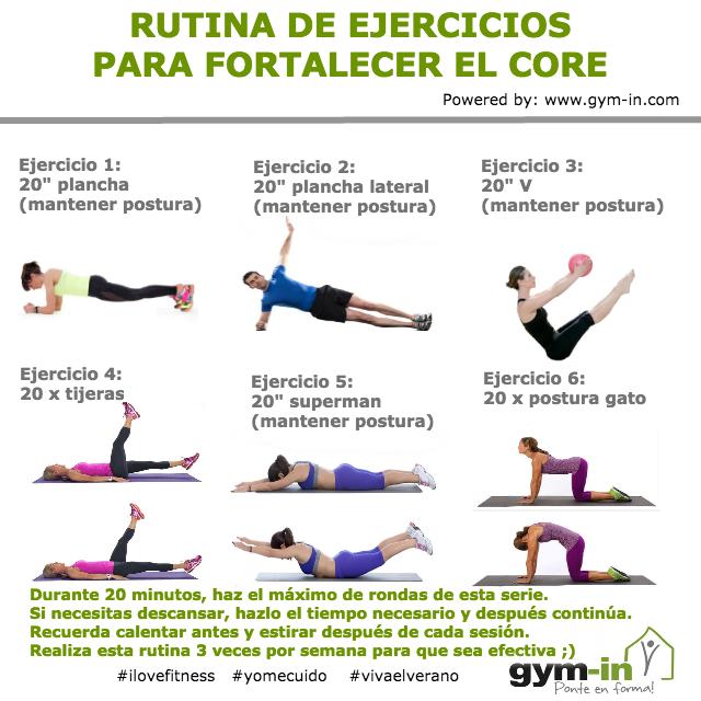 Rutina para fortalecer el core en casa 20 minutos gym - Rutinas para casa ...