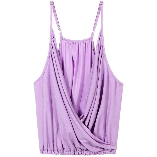 c00b7e00ed5b50 Yoins Deep V Cami Top In Light Purple ( 14) ❤ liked on Polyvore featuring  tops