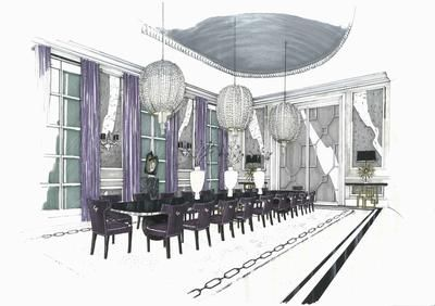 tom thomas deco dining room: i have been a sketch artist for the