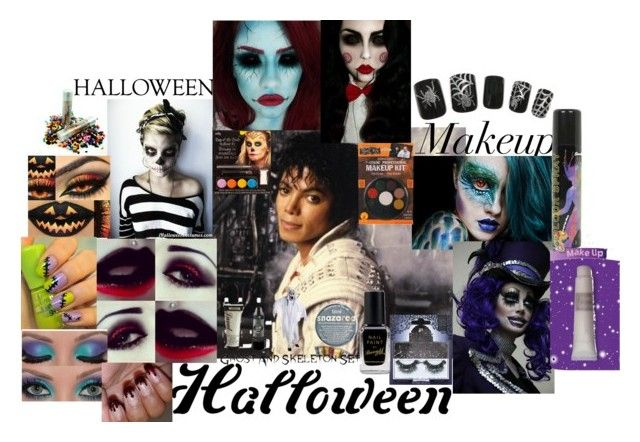 """""""Michael loved Halloween and So Do I"""" by wingsoffoever ❤ liked on Polyvore featuring Topshop, Disney, eylure and Barry M"""