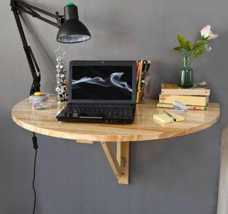 table murale rabattable en bois, table de cuisine pliable, table