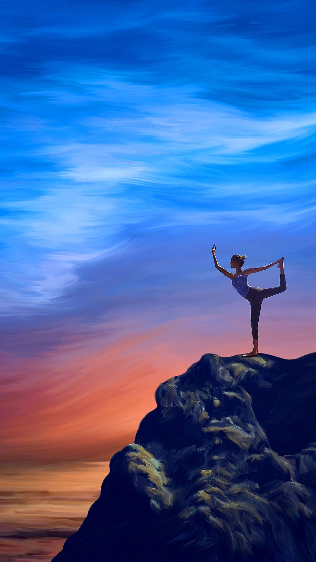 Yoga Wallpaper for Mobile Devices – Artwork by GoodVibesGallery.com  Mobile Wallpaper Art