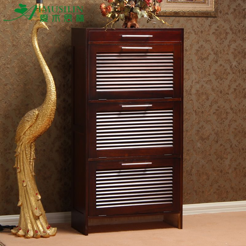 Simple Modern Tipping Paulownia Shoe Cabinet Furniture Of Solid Wood Shoe  Bench Ultra Thin Tipping