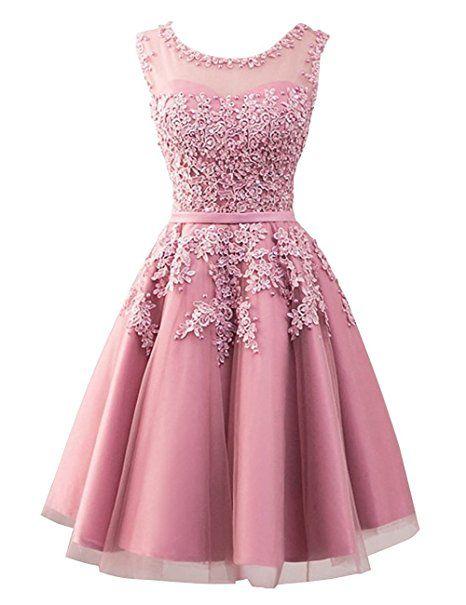 Brautjungfernkleider kurz pink