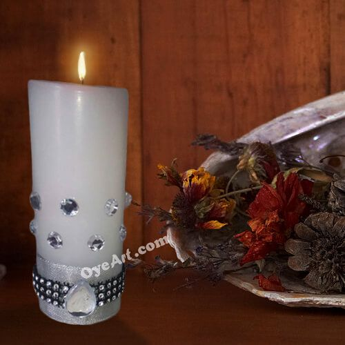 Handmade Decorative Candle for Diwali festival.