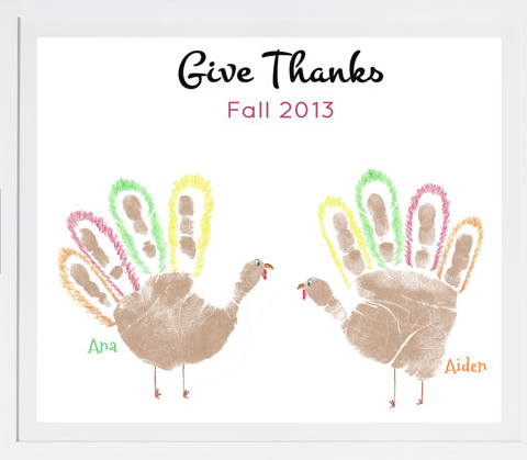 Create A Thanksgiving Keepsake Gift For Mom Or Grandma X Personalized Turkey Handprint Art Print By My Forever