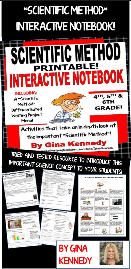Scientific Method Process Interactive Notebook This Printable Interactive N Scientific Method Interactive Notebook Scientific Method Interactive Notebooks