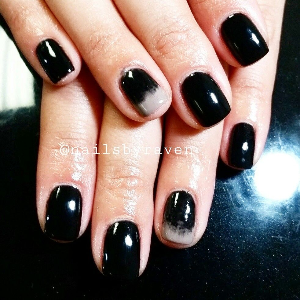 Ombre...black and taupe