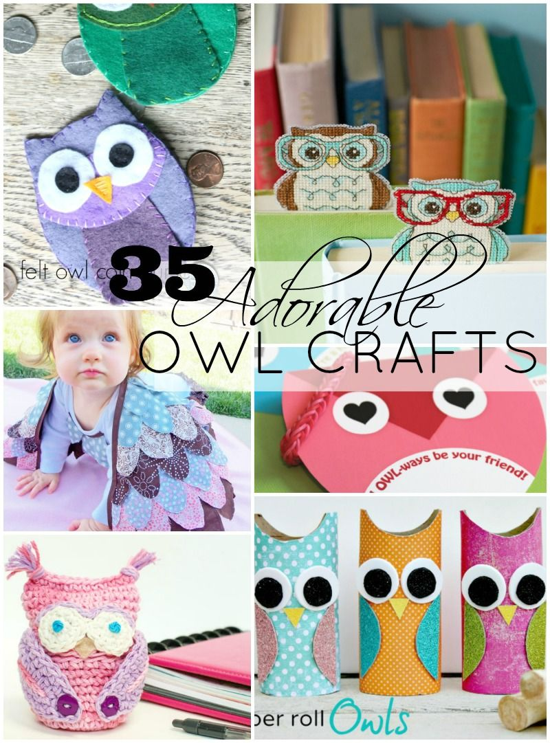 Today I'm doing it–a totally indulgent roundup where I try to make all of those hours and hours I've spent on pinterest pinning and pinning owl stuff mean something–maybe. And so, here are 35 adorable owl crafts. And, they are adorable precisely for that reason–because they are OWL crafts. I love owls and have made ...