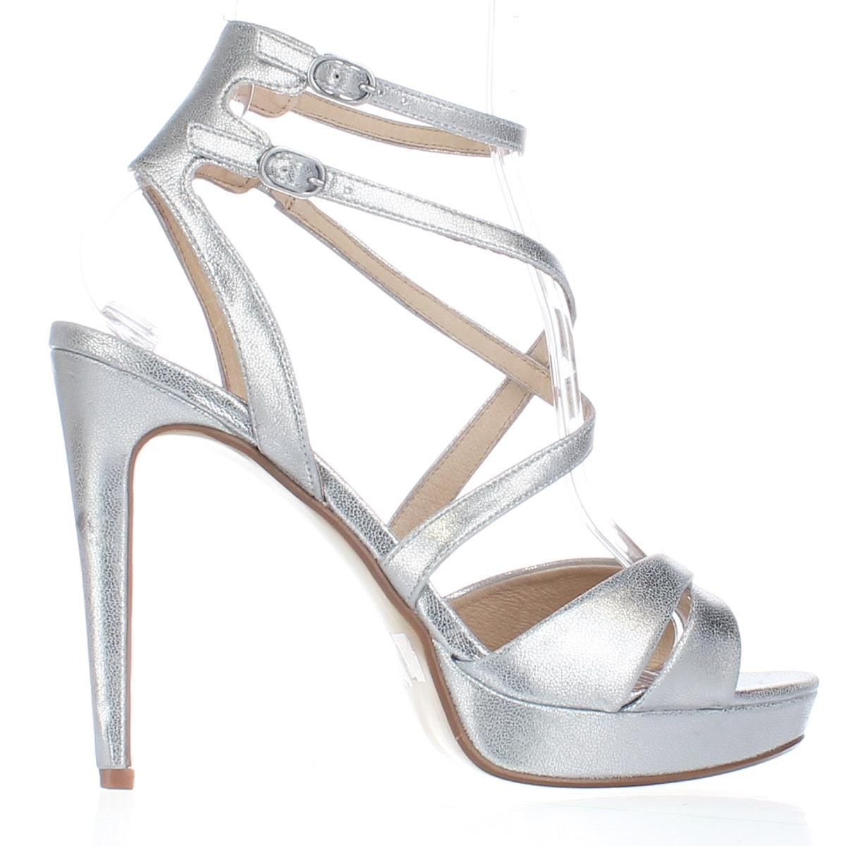 Chinese Laundry Highlight Platform Dress Sandals Silver 10US 41EU  sandals   heels  strappy 17553ef6937c