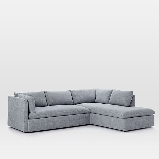 Shelter 2-Piece Terminal Chaise Sectional : west elm dunham sectional - Sectionals, Sofas & Couches
