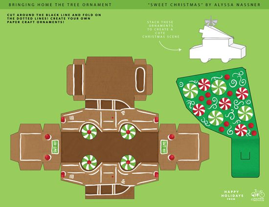 gingerbread car templates version here ! Donu0027t forget to make - christmas paper template