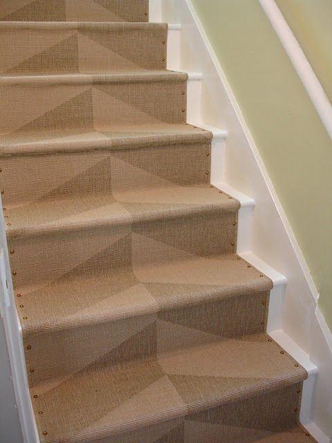 Loft Cottage Diy Nailhead Stair Runner Diy Stairs Stair | Rug Runners For Stairs | Wood | Antelope | Hallway | Persian | Mid Century Modern