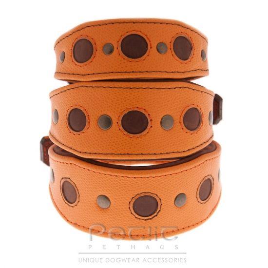 Mandarina Drops Handmade Leather Hound Collar