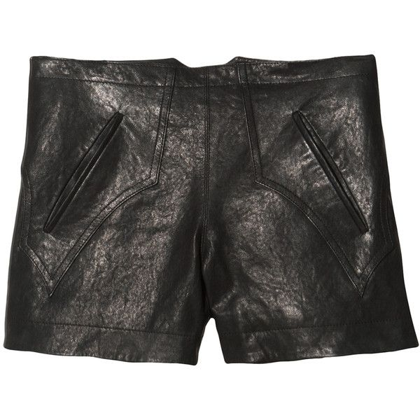 10 Crosby Derek Lam Leather Western Short ($595) ❤ liked on Polyvore