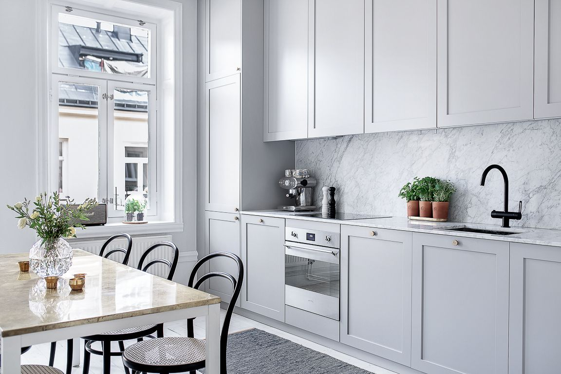 Traditional Kitchen Inspiration, With Soft Toned Profile Cabinets   Found  On Pinterest