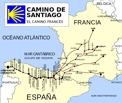 Camino de Santiago Francés   Wikipedia, la enciclopedia libre