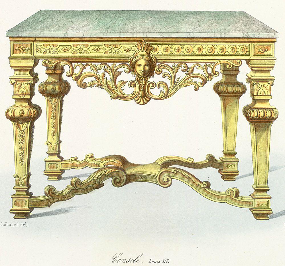 louis xiv furniture | Week 2: Furniture Styles that Influenced ...