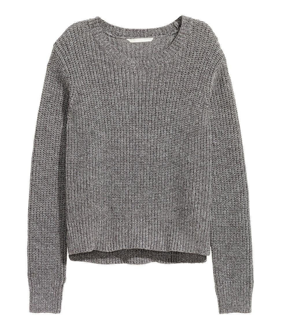 Pullover | SchwarzWeiß meliert | Damen | H&M DE