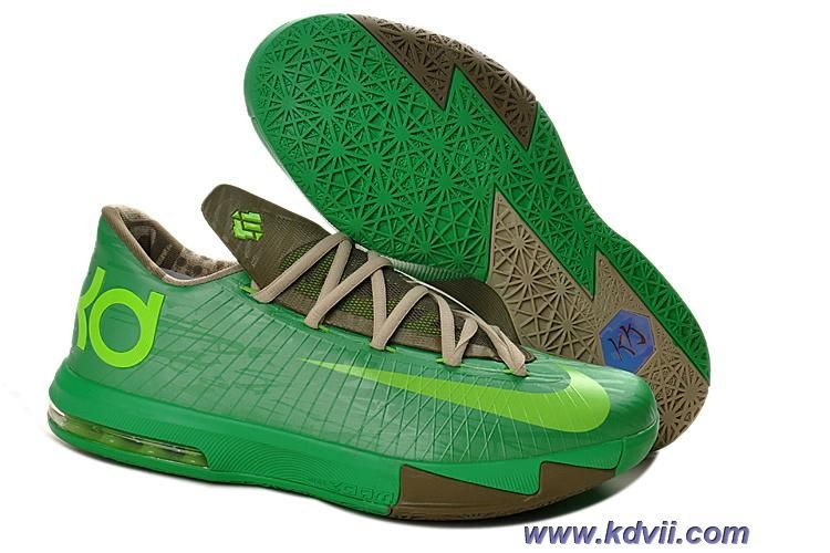 Bamboo Court Green Olive Volt Womens 599424 065 Nike KD 6 Online