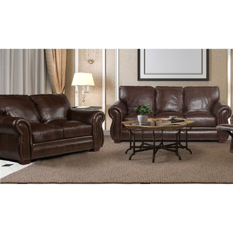 Surprising Traditional Brown Leather 2 Piece Living Room Set Molasses Alphanode Cool Chair Designs And Ideas Alphanodeonline