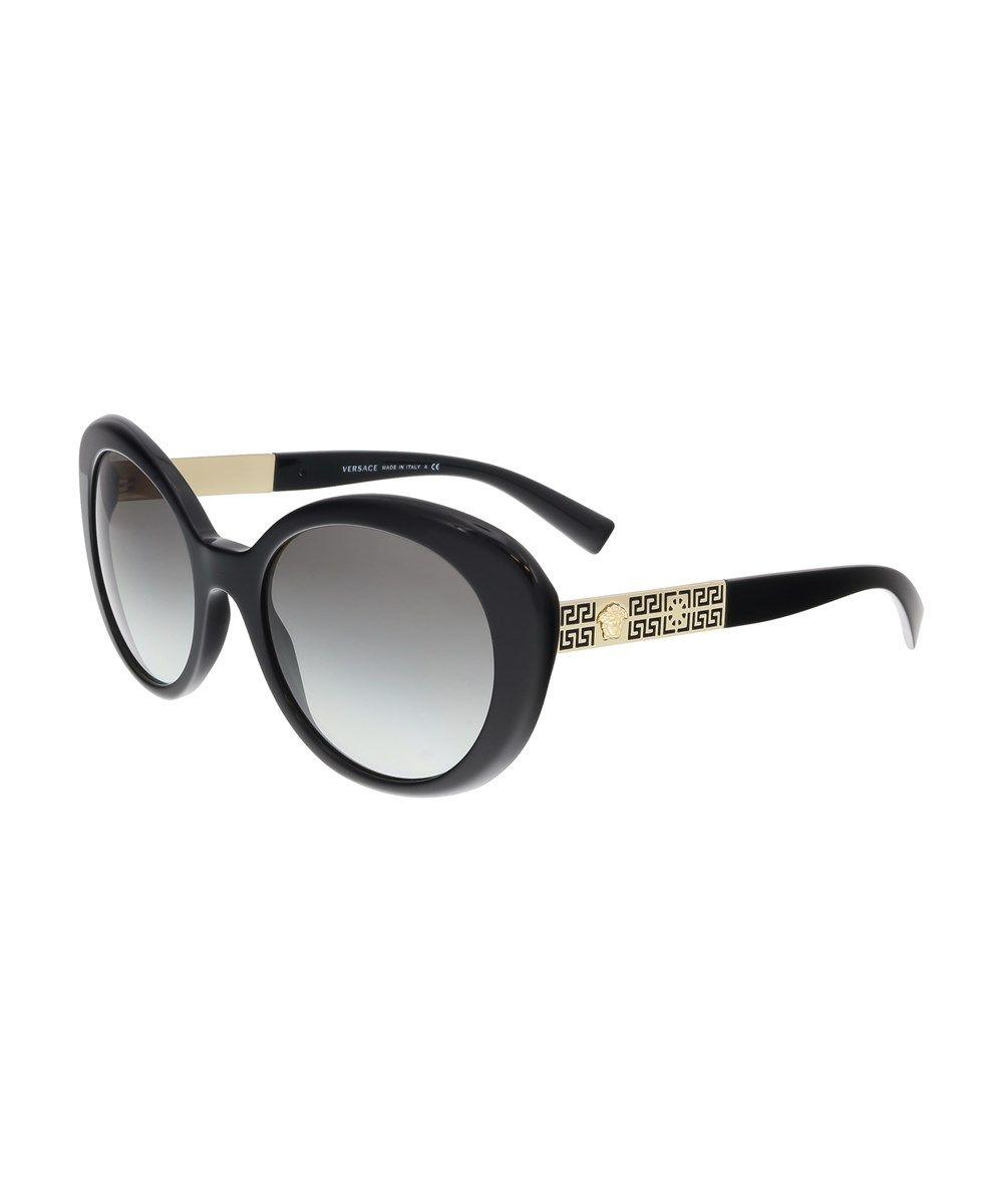 c8d00057ec802 VERSACE Ve4318 Gb1 11 Oval Black Sunglasses .  versace  sunglasses ...