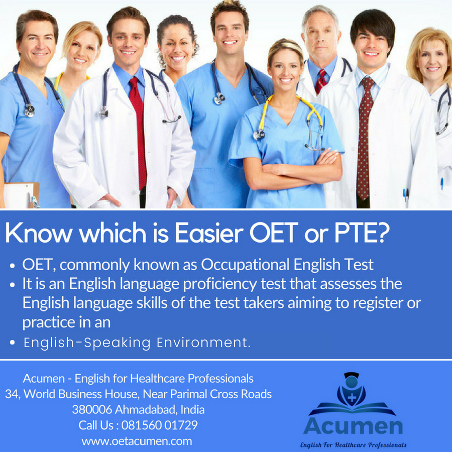 Know which is Easier OET or PTE? Know What is OET & PTE? and