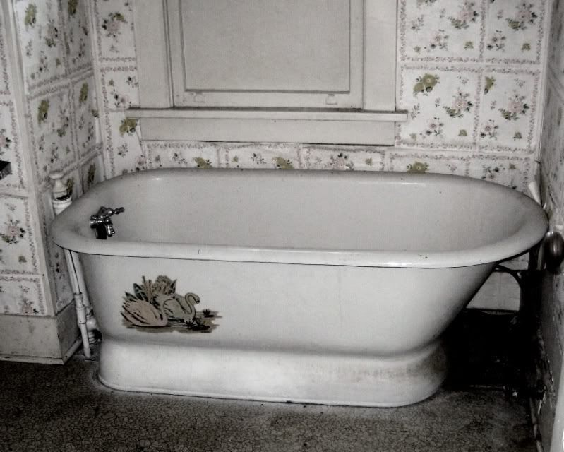 This Old Photo Shows The Original Bathtub Found In A Sears Magnolia.